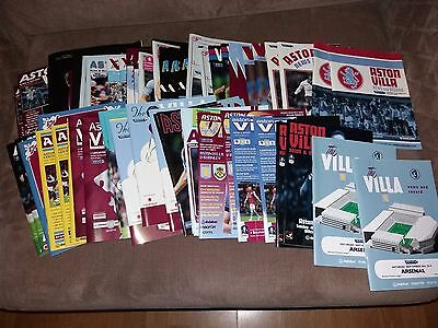 Aston Villa HOME programmes 2014/15 Premiership FA Cup Carling Cup Friendly