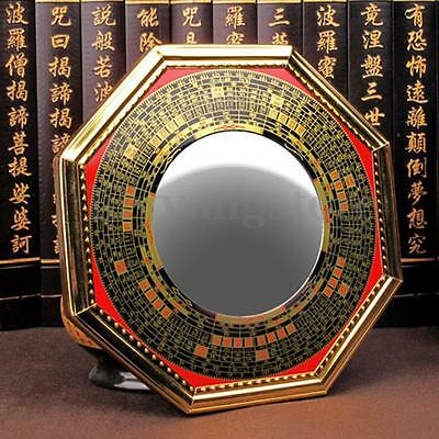Feng Shui Chinese Era House Geomantic I-Ching Bagua Concave Mirror Solar