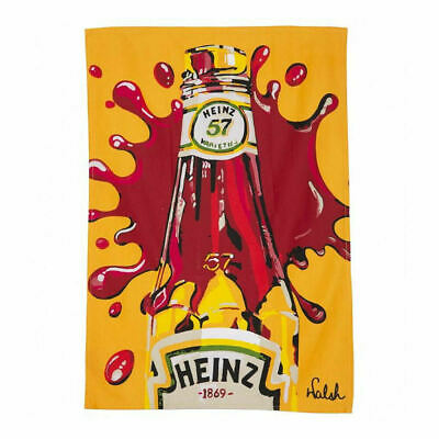Heinz Tomato Ketchup Tea Towel 100% Cotton Kitchen Retro Vintage Red Sauce 57