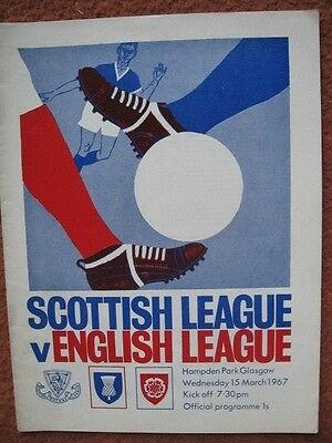SCOTLAND v ENGLAND (INTER LEAGUE INTERNATIONAL) 15th March 1967 @Hampden
