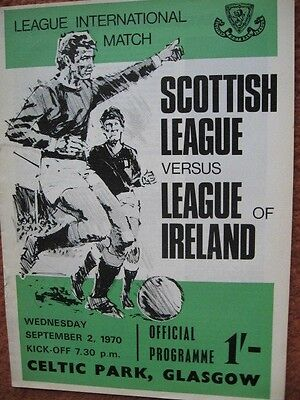 SCOTLAND v EIRE (INTER LEAGUE INTERNATIONAL) September 2nd 1970 @Celtic