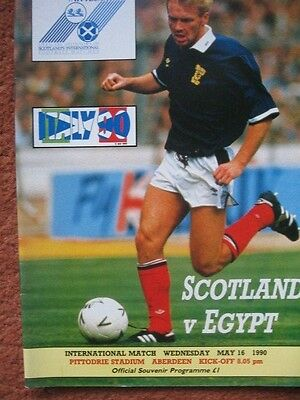 SCOTLAND v EGYPT 16th May 1990 @Aberdeen