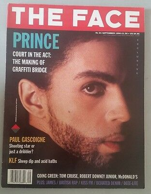 PRINCE THE FACE MAGAZINE SEP 1990 6 page feature with advert