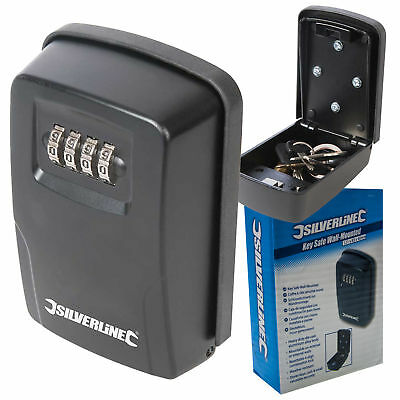 Silverline Combination Lock Key Safe Storage Cabinet Wall Mounted Security Box