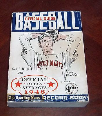 the sporting news  Official Baseball guide and record book 1948 Ewell blackwell
