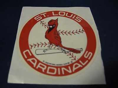 Collectible Red White St. Louis Cardinals Baseball Sticker