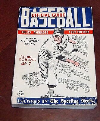 the sporting news  Official Baseball guide and record book 1953 Robin Roberts