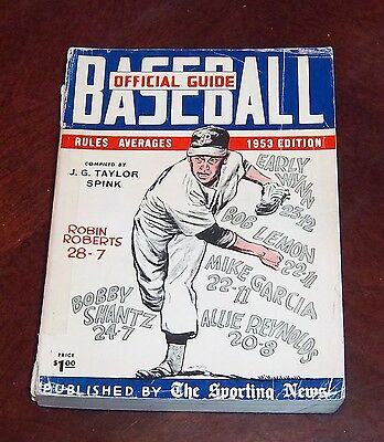 the sporting news  Official Baseball guide and record book 1953 Robin Roberts 2