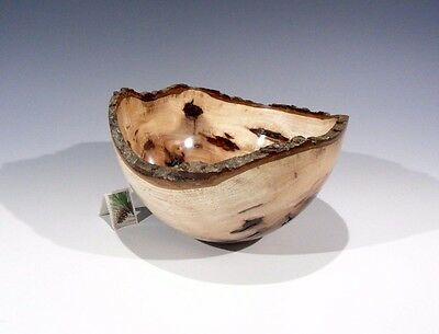 Bitternut Hickory 13197 G+ Hand Turned Wood Bowl SMITHSONIAN Walsh