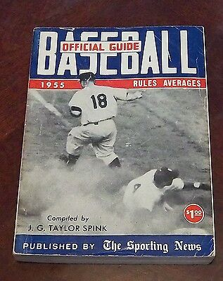 the sporting news Official Baseball guide and record book 1955 Play At The Plate