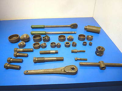 Greenlee 1804 Knockout Stud Punch Ratchet Driver,Lot of 31 pieces,See Below,USED