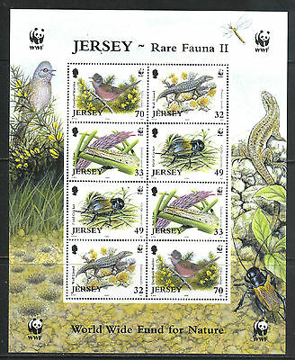 Jersey 2004 Local Wildlife sheetlet--Attractive Nature Topical (1137a) MNH