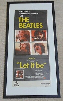 Let It Be Original Cinema Daybill Movie Poster From 1970 Rare Beatles Apple