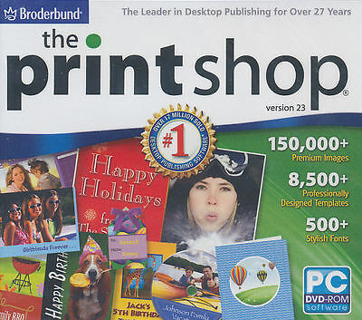 Printshop 23 - The Print Shop - Desktop Publishing Software Windows Xp,Vista,7,8