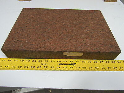 "12"" x 18"" x 2-3/8"" ? Red? Granite Surface Plate"
