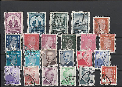 Turkey Mix canceled Postage Stamps Stamps Los Right 2585