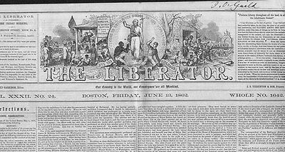 William Lloyd Garrison Anti Slavery Newspaper Slaveholders Flight Of The Negroes