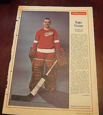 Perspectives Magazine # 53 December 31 1966 Roger Crozier detroit Red Wings
