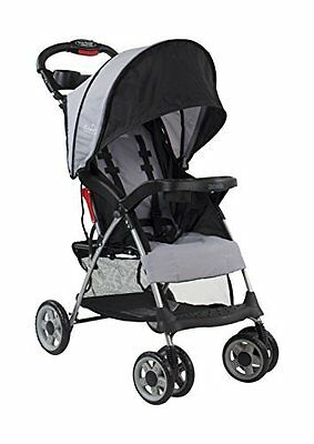 Lightweight Travel Stroller w/ 3-Tier Extended Canopy for Maximum UV Coverage