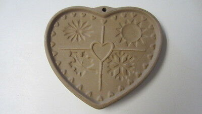 1997, The Pampered Chef, Seasons of the Heart Stoneware Cookie Mold