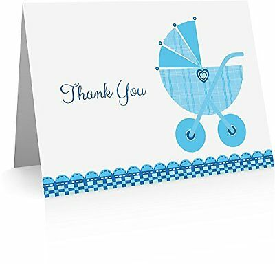 Baby Boy Thank You Cards Designed For Writing On The Inside Of The