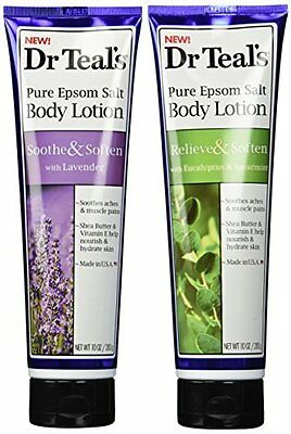 Dr Teal's Pure Epsom Salt Body Lotion Great to Soothe aches & muscle pains -10oz
