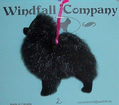 Black Pomeranian Pom Dog Soft Plush Christmas Canine Ornament  # 2 by WC