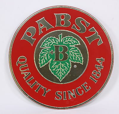 """PABST Beer Quality Since 1844 Advertiser Wall Medallion Mirror Sign 16"""" Diameter"""