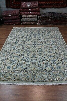 Delightful Handmade Signed Light Kashmar Persian Rug Oriental Area Carpet 10X13