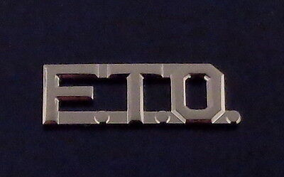 "FTO Silver 1/2"" Lettering/Letters Single Uniform collar Pin police/sheriff"