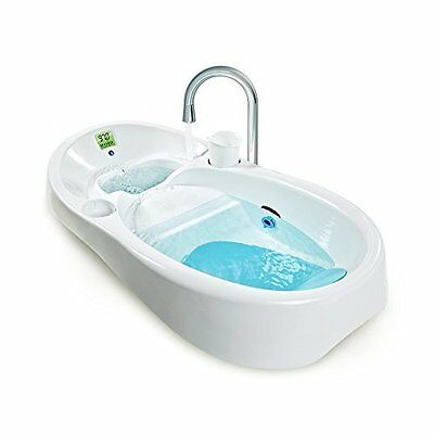 Baby Bath Tub - Color Coded Temparature - Double Sink White by 4moms