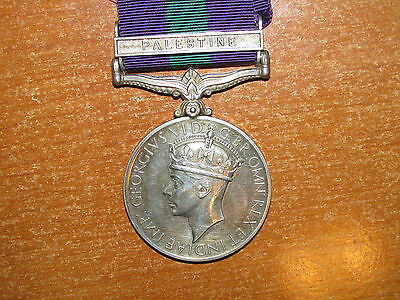 British General Service Medal Bar Palestine  Highland Light Infantry nice