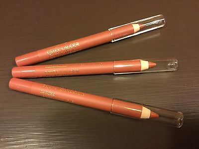 3 x Estee Lauder Double Wear Stay in Place Lip Pencil #04 Rose-Travel .02 oz ea