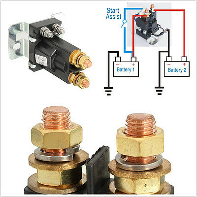 Professional DC12V 500A Car Truck 4Pins Battery Isolator Relay Start Switch Kit