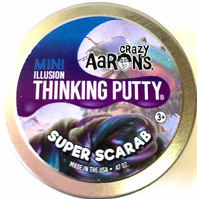 Super Scarab Super Illusions Crazy Aaron's Thinking Putty Small 2 inch tin .47oz
