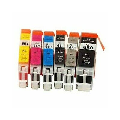 12 Ink Cartridges PGI650 XL CLI651 XL+ Grey for Canon PIXMA MG6360 MG7560 MG7160