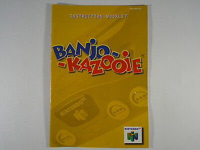 ¤ Banjo-Kazooie ¤ (MANUAL ONLY) Good! Nintendo 64 N64