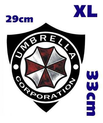 Resident Evil Umbrella Corporation Sticker Auto Aufkleber Car schwarz XL 33cm