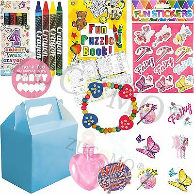 Girls Baby Blue Filled Party Bags Parcels Birthday Wedding favours Activity Bag