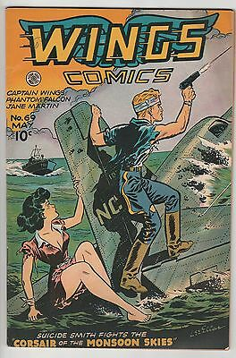 Wings Comics #69,great Good Girl Cover,from High Grade Golden Age Collection!
