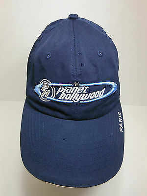 PLANET HOLLYWOOD PARIS Hat Baseball Cap Embroidered Adjustable OSFA Never Worn