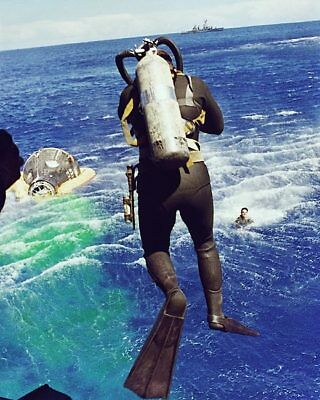Gemini 5 Diver Leaps from Helicopter 8x10 Silver Halide Photo Print