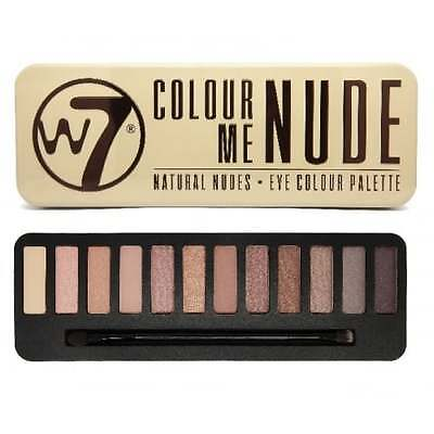 W7 Cosmetics In The Nude Natural Eye Colour Palette 12 Shades.