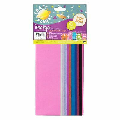 Craft Planet (Docrafts) Multi Coloured Tissue Paper Sheets 10 Large Sheets