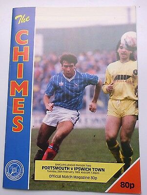 PORTSMOUTH v. IPSWICH TOWN  DIVISION TWO 1989  FRATTON PARK