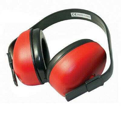 Silverline Ear Defenders Snr 27Db Comfortable Protection Safety Muffs Red 633815