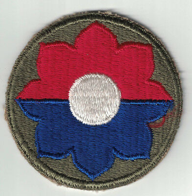 WWII US Army 9th Infantry Division SSI Patch Cut Edge W/B 'Old Reliables'