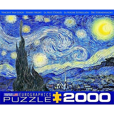 2000 Piece Starry Night Puzzle By Vincent Van Gogh - Eurographics Pieces