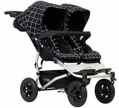 Mountain Buggy Duet Compact All Terrain Twin Baby Double Stroller Grid NEW 2017