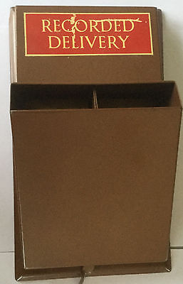 Post Office Brass Two Section Dispencer For Recorded Delivery Labels 1961